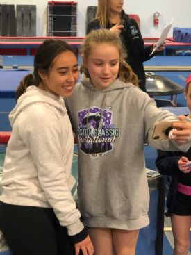 Selfie Session With Katelyn Ohashi + Handstand Contest!